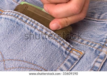 pocket theft - stock photo