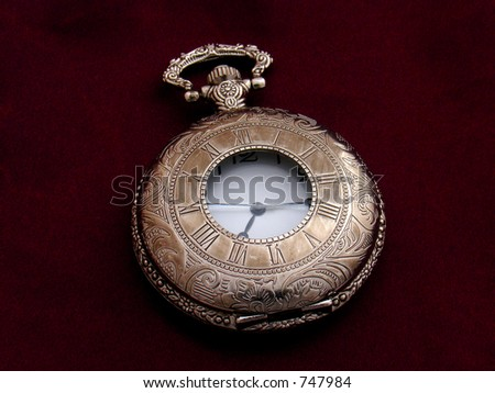 pocket watch closed - stock photo