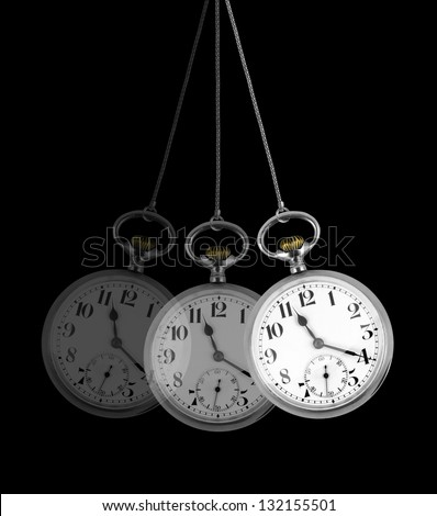 Pocket watch, hypnosis concept - stock photo