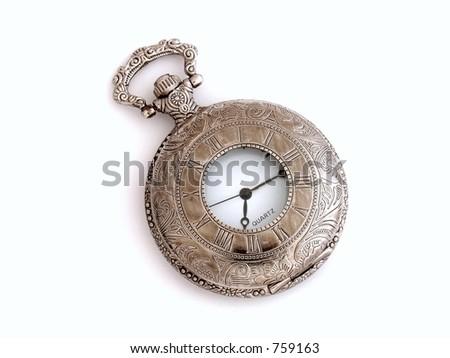 pocket watch isolated - stock photo