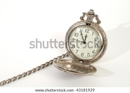 pocket watch. Isolated on white