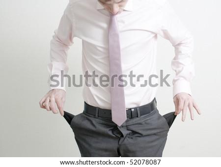 Pockets empty - stock photo