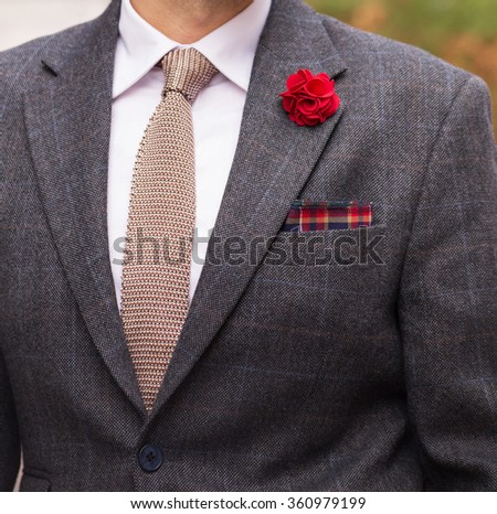 Pocketsquare, man in suit