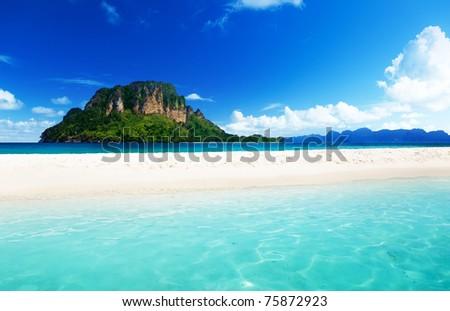Poda island in Krabi Thailand - stock photo