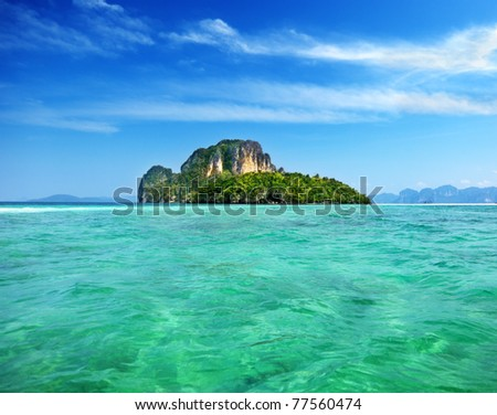 Poda island in Krabi Thailand - stock photo