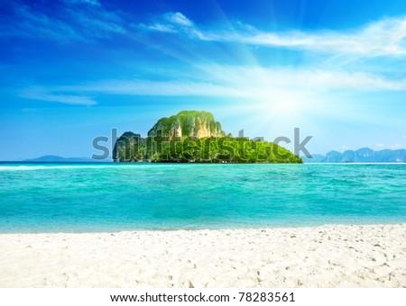 Poda island in Thailand - stock photo