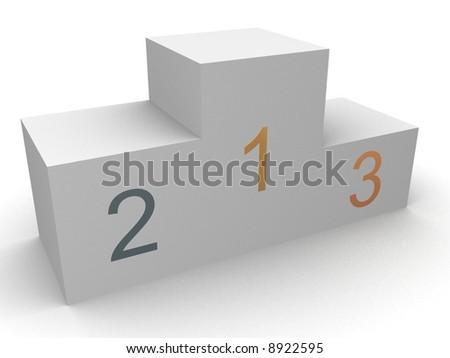 podium - stock photo