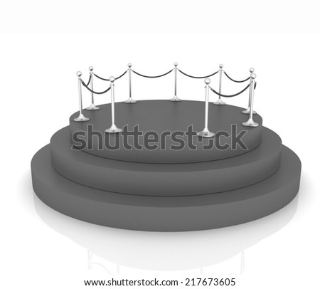 podium 3d - stock photo