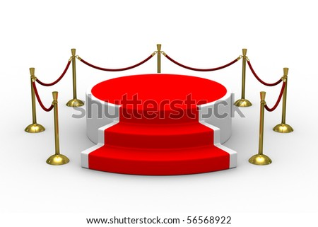 podium on white background. Isolated 3D image - stock photo