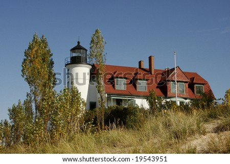 Poinst Betsie Light Station located in Northwestern Michigan