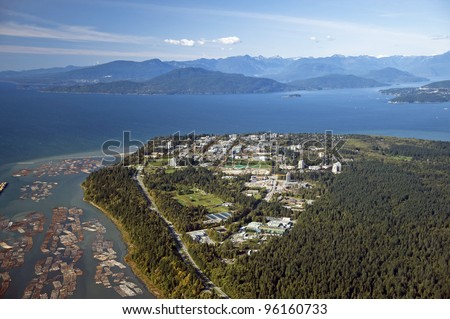Point Grey and The University of British Columbia - stock photo
