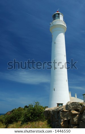 Point Hicks Lighthouse, Cape Everard, VIC, Australia - stock photo