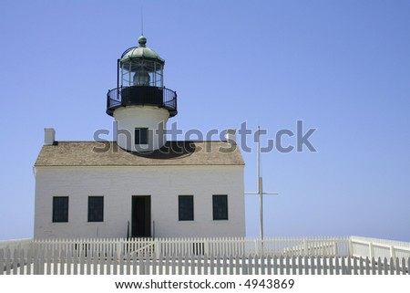 Point Loma Lighthouse, San Diego, California - stock photo
