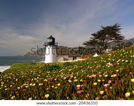 Point Montara lighthouse along Highway 1 in the San Francisco Bay Area
