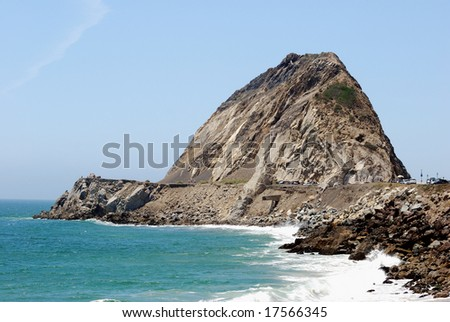 Point Mugu Rock, Ventura County California - stock photo