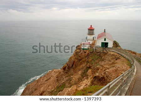 Point Reyes Lighthouse, California - stock photo