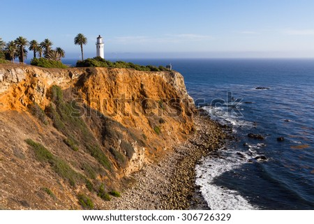 "Point Vicente Lighthouse at Palos Verdes Point in California, ""Lady Of The Light"""