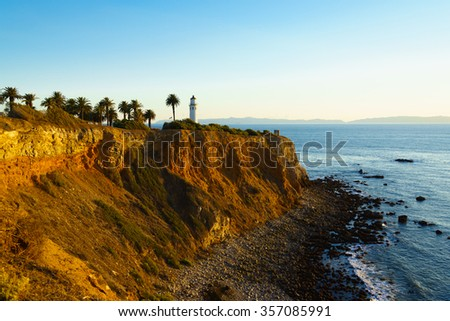 "Point Vicente Lighthouse at Palos Verdes Point, ""Lady Of The Light"""