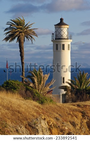 Point Vicente Lighthouse in Rancho Palos verdes, California, USA.