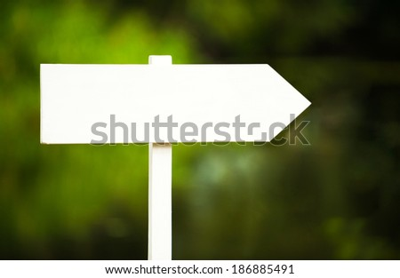 pointer white blank sign - stock photo