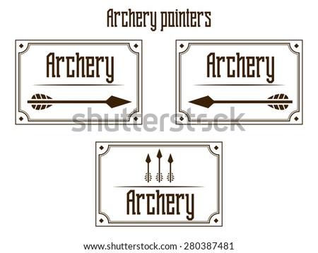 Pointers archery raster version - stock photo