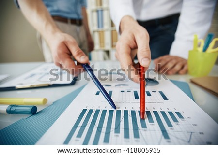 Pointing at chart