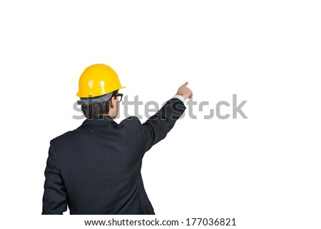 Pointing businessman 2