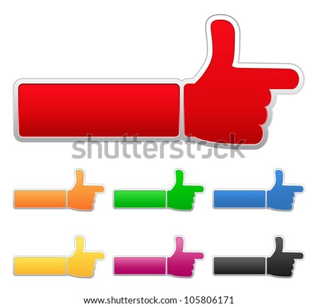Pointing Hand - stock photo