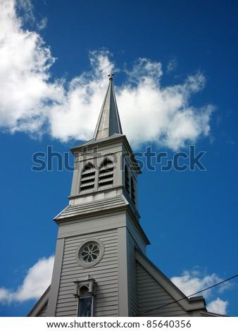 pointing heavenwards - stock photo