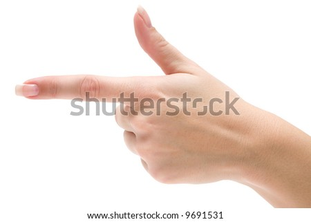 Pointing Left - stock photo