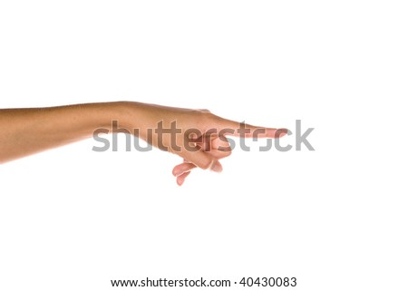 Pointing Out - stock photo