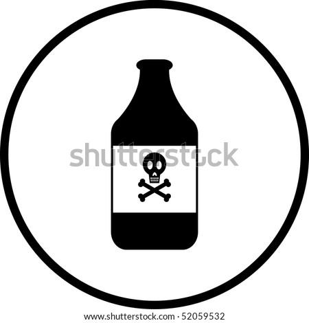poison symbol - stock photo
