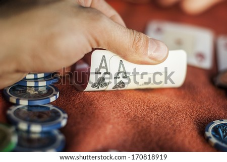 Poker Aces pair - stock photo