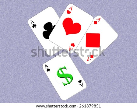 Poker and money - stock photo