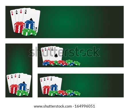 Poker banners. Vector available. - stock photo
