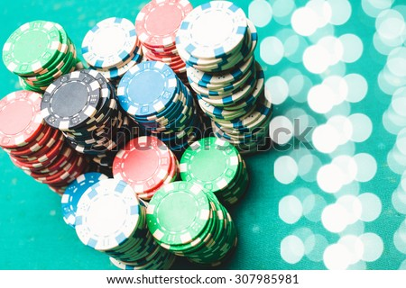 Poker. Cards and chips - stock photo