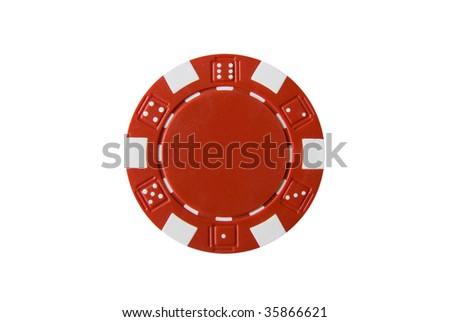 Poker Chip - stock photo
