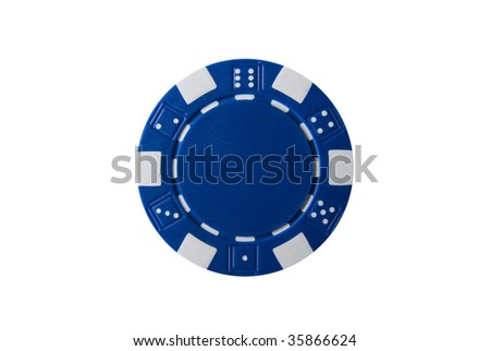 Poker Chip - stock photo