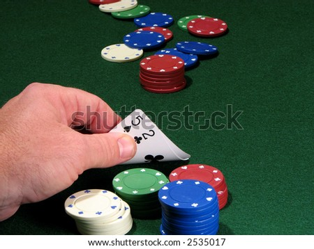 Poker chips and bad hand