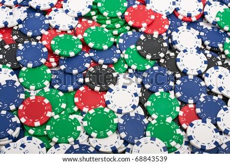 Poker Chips Chaos - stock photo