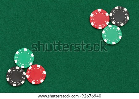 poker chips over table layout