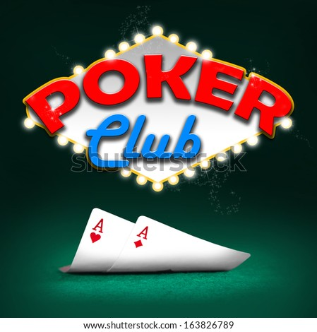 Poker club, gambling background color - stock photo