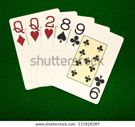 Poker. Combination One Pair
