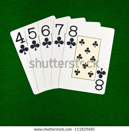 Poker. Combination straight flush