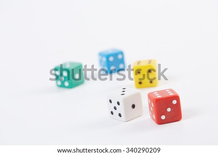Poker cube on a white background - stock photo