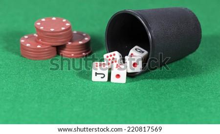 Poker Dice - stock photo