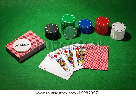 Poker equipment - stock photo