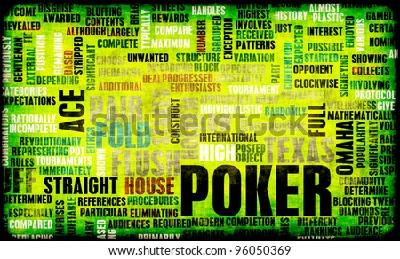 Poker Game of Texas Hold'em Rules and Concept - stock photo
