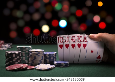 Poker Hand - stock photo