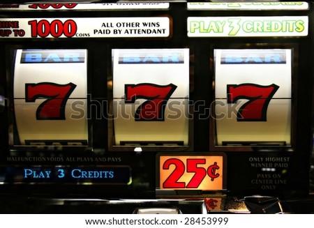 Poker Machine Jackpot - stock photo